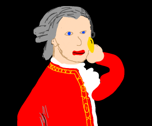 Mozart eating Chips