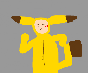 Angry pikachu cosplayer