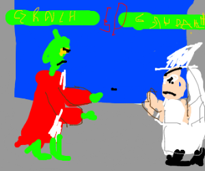 grinch fights a magician