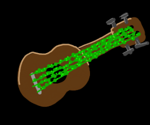 uklele with ivy strings