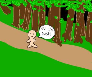 boi lost in de whoods