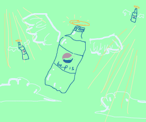 Blue Pepsi in heaven