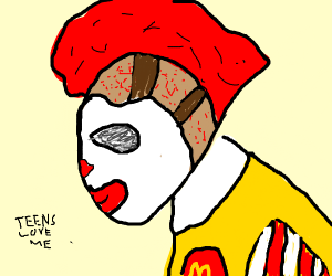 Teens are obsessed with Ronald McDonald