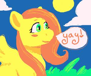 Fluttershy saying yay