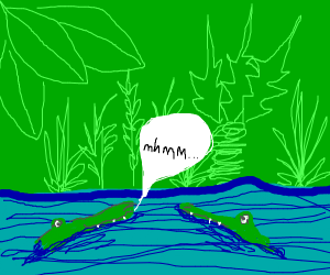 crocodile says mhmm to other crocodile