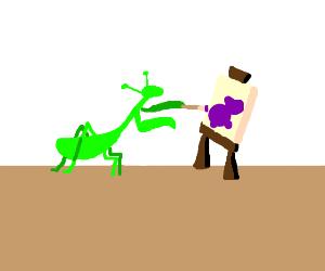 Praying Mantis Artwork