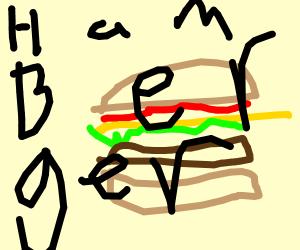 A super hero called Hamburger Man