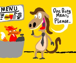 Customer Horse