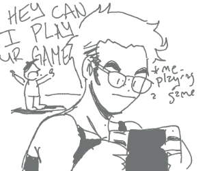 Annoying cousin wants to play switch