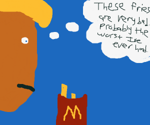 Donald Trump is disappointed by his McFries