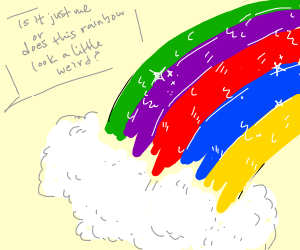 If you randomized the colours of the rainbow
