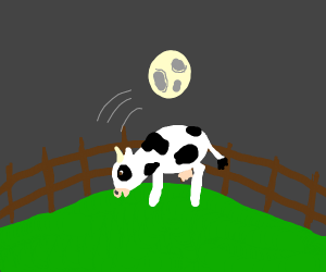Uno reverse: Moon jumps over the cow