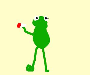 Kermit hitting that good good