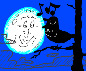 The moon loves a birds song