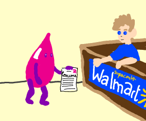 pink water submitting a resume to Walmart