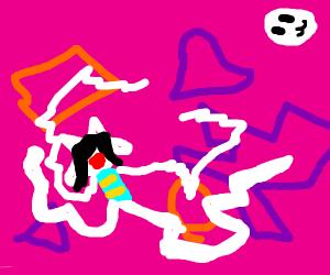 Weird fan art of Temmie (Undertale)