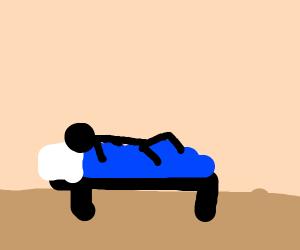sleeping ON the blanket