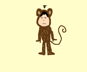 man in monkey costume