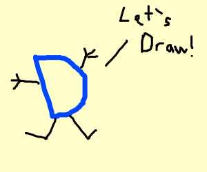 "Letter D says ""let's draw"""