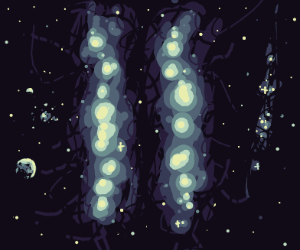 Cosmic tectonic plates drifting appart