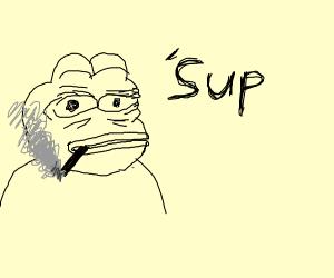 Pepe vaping