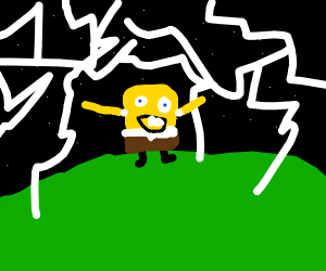 Sponge bob summoning lightning