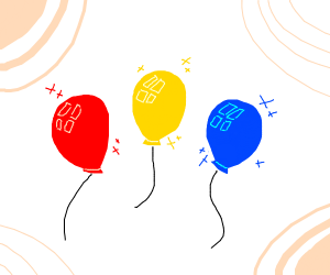 Primary colour balloons