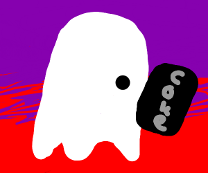 Ghost with a soda