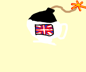 bomb in a british tea cup