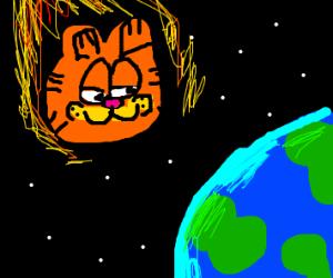 Garfield Hurtling Towards Earth