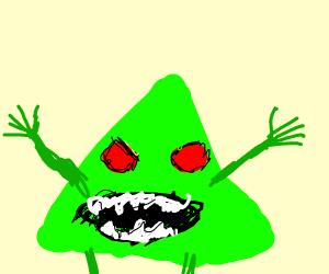 Screaming nightmare triangle man