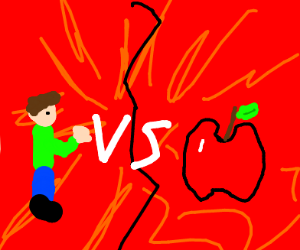 Man vs apple