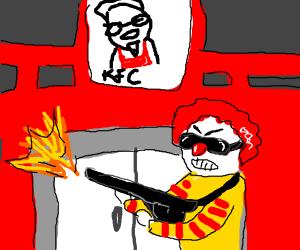 Ronald McDonald raids KFC