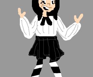 An emo anime girl