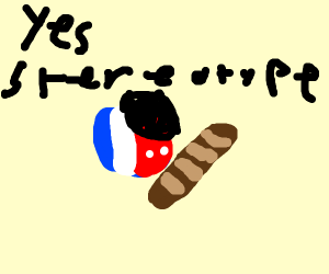 France country ball has a baguette