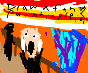 Draw a famous painting P.I.O