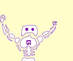 If Discord logo was a robot - Drawception