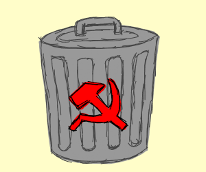 communist trashcan