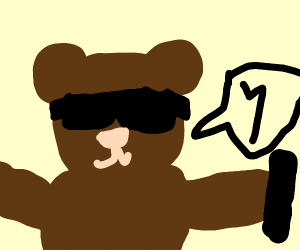Cool Teen Bear Says Latin Letter