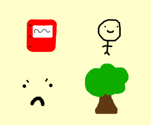 Book person, Angry tree