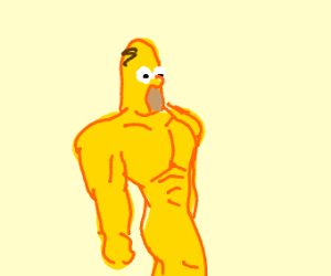 Buff naked sexy homer