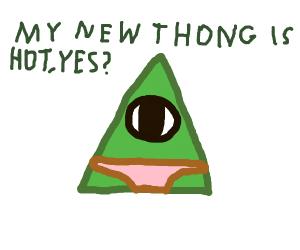 illuminati triangle with pink thong