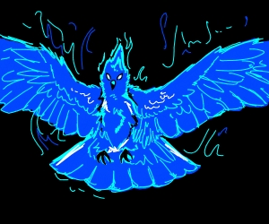 Amazing blue Phoenix