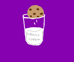 dipping your cookies in heavy cream