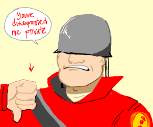 Tf2 Soldier isnt very Impressed