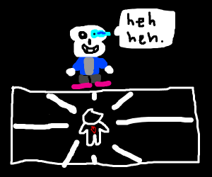 sans giving a kid a bad time