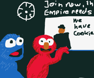 Elmo and Cookie Monster join the empire
