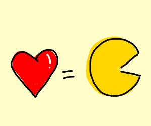 Love equals Pacman