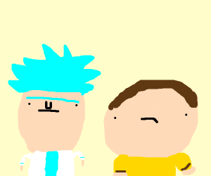 LOOK! IT'S RICK AND MORTY!