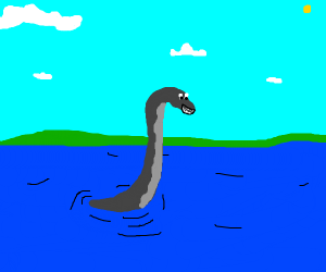 Happy Loch Ness monster